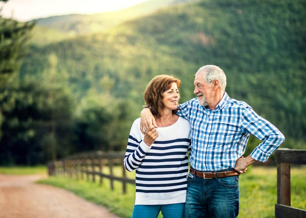 Senior couple happy outdoors